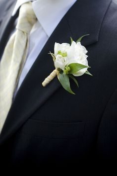 Sweet spray rose boutonniere