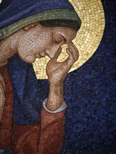Hahnemuhle PHOTO RAG Fine Art Paper (other products available) - Virgin Mary mosaic, Vienna, Austria, Europe - Image supplied by WorldInPrint - Fine Art Print on Paper made in the UK Fine Art Prints, Framed Prints, Canvas Prints, Mosaic Portrait, Byzantine Art, Europe Photos, Mary Image, Religious Art, Our Lady