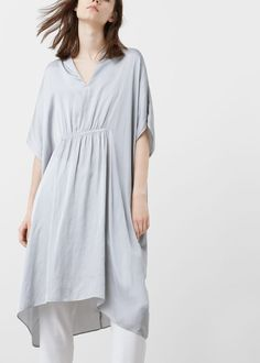 Flowy blouse - Shirts for Woman | MANGO India