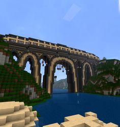 bridge1 Minecraft Bridges, Minecraft Pixel Art, Minecraft Creations, How To Play Minecraft, Minecraft Designs, Minecraft Ideas, Minecraft Buildings, Building Ideas, Building A House