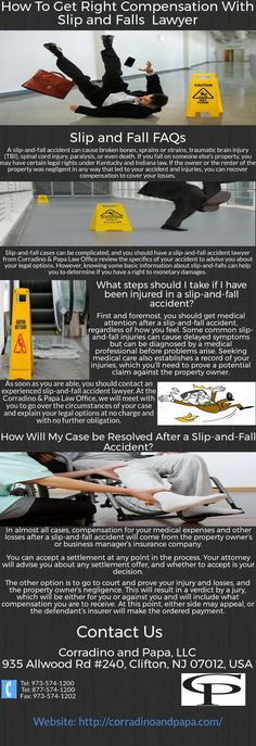 Nutley Slip and falls lawyer can assist you with all kinds of slip and fall cases. They can talk to the insurance companies on your behalf and assist you in many ways to get the right compensation you deserve. Slip And Fall, Insurance Companies, Personal Injury, Lawyer, Medical, How To Get, Cases, Medicine, Active Ingredient