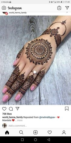 17 Ideas Bridal Mehndi Designs Brides Hands Simple You will find different rumors about the real history of the … Mehndi Designs For Girls, Mehndi Designs For Fingers, Wedding Mehndi Designs, Unique Mehndi Designs, Mehndi Design Pictures, Henna Designs Easy, Latest Mehndi Designs, Henna Tattoo Designs, Finger Mehendi Designs