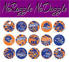 more printable bronco images - 1 inch circles.
