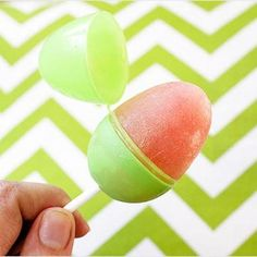 Easter Egg Popsicles. keeps the drips in the egg, and if you have to do something and can't bring it with you, close the top and set it down. You don't have to worry about bugs getting to it or it melting when you're outside.