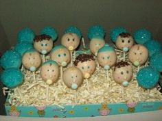 Cute Baby Shower Cake Pops
