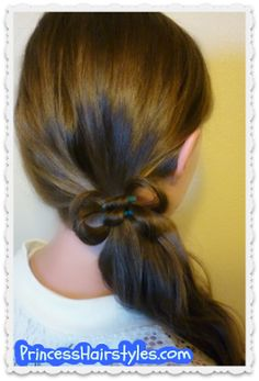 Quick and easy elastic wrap hair bow hairstyle