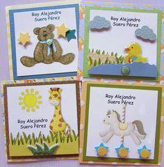 Tarjetas presentación para bebes Facebook Crafts by Iris  @craftsbyiris