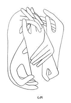 Geoff McFetridge drawing of hands intertwined Art And Illustration, Illustrations Posters, Desenho Pop Art, Poster Drawing, Art Graphique, Grafik Design, Art Inspo, Line Art, Design Art