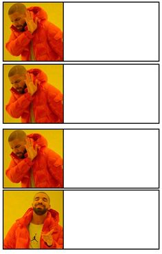 ✅Best Drake Meme Template Free - You Calendars Drake Meme, Wow Meme, Me Too Meme, Funny Reaction Pictures, Funny Pictures, Cartoon Memes, Funny Memes, Meme Meme, Spongebob Memes