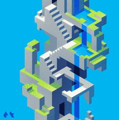 Hexels Feature Friday July 3rd 2015We've got an explosion of Hexels art to get you all fired up for the 4th of July weekend!If we could visit any isometric terrain, it would be Dotdot's isometric land. And we'd make our way there in our little isometric boatsSasj is back with another cool set of patterns!  A never ending staircase, by DoodleOverlord  A never ending waterfall staircase, by etall