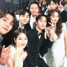 """a little extraordinary you cast reunion i miss them 🥺"" Korean Actresses, Korean Actors, Actors & Actresses, Good Comebacks, Weightlifting Fairy Kim Bok Joo, Best Tweets, Kdrama Actors, Drama Movies, Celebs"