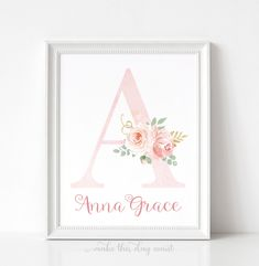 Gold Nursery Decor, Floral Nursery, Nursery Prints, Nursery Wall Art, Wall Art Prints, Floral Printables, Blush And Gold, Watercolor Rose, Printing Services