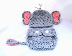 Baby Photo Prop Crochet Elephant Hat Baby Animal by YarnForBaby, $30.00