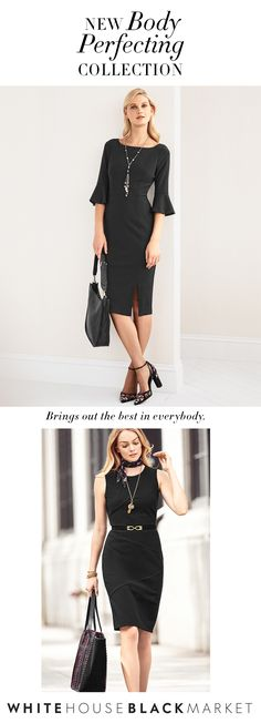 Get ready to redefine your wardrobe with dresses and skirts that control and smooth your body in all the right places. In an innovative stretch fabric, our Body Perfecting Collection spans the seasons, is wrinkle-resistant and machine-washable. The pieces make the perfect travel companions—they're so easy they practically pack themselves.  | White House Black Market