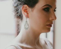 Decadent Vintage Inspired Drop Earrings, Sian | The Wedding Hair Accessory and Bridal Jewellery Experts.