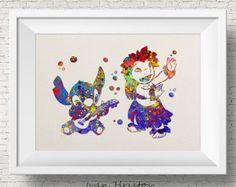 Stitch Lilo & Stitch disney watercolor Art Print by IvanHristov