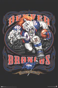 denver broncos mascot pictures | Denver Broncos Mascot Football Poster, Team Photos Posters Pictures ...