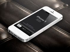 3D iPhone 5 White – Vector Mockup