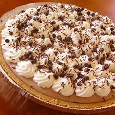 Creamy Chocolate Mousse Pie Allrecipes.com