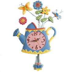 New Style Spring Water Pot Artist Vase Shape Home Decor Wall Clock