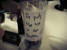 Clever tip jars (favorite)