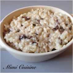 Mushroom risotto, a classic! Recipe at Cookeo - abendessen Italian Snacks, Italian Recipes, Vegetarian Recipes, Cooking Recipes, Healthy Recipes, Vegetarian Italian, Vegetarian Breakfast, Pasta Recipes, Chicken Recipes