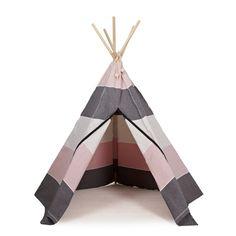 Wunderschönes Indianerzelt, Spielzelt, Hippie Tipi aus Stoff, nordic grey, roommate
