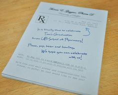 Pharmacy or Doctor party invitations