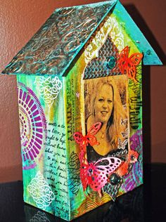 "7x12"" chipboard art house  VIva Decor, Art Anthology, Ten Seconds Studio"