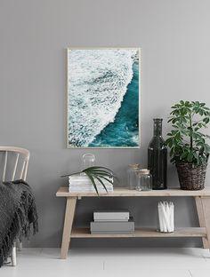 Plakat med havvand