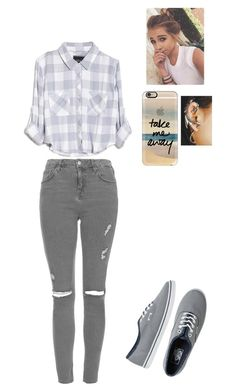"""""""Basic"""" by ms-rich ❤ liked on Polyvore featuring Rails, Casetify, Topshop, Vans and CO"""