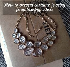 How to prevent cheap jewelry from turning colors with Krylon gloss spray, super easy!