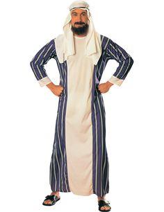 ALADDIN Genie Arabian Night SULTAN SHIEK SINBAD Men Beige TURBAN HAT HEADWEAR