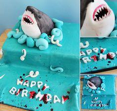 Commission: Shark Cake by cakecrumbs.deviantart.com on @deviantART
