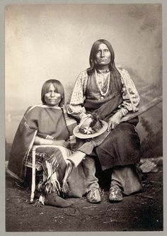 Trotting Wolf and wife - Kiowa - no date