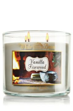 Vanilla Firewood 14.5 oz. 3-Wick Candle - Slatkin & Co. - Bath & Body Works