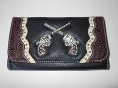 Black/Brown Blazin Roxx Women's Wallet  #BlazinRoxx #Wallet