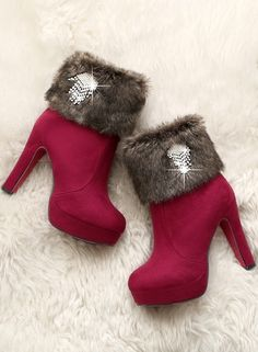 Flatform High Heel Over The Knee Buckle Leather Women Boots