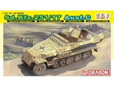 The Dragon 1/35 German Sd.kfz/17 Ausf.C Command Version from the plastic military model kits range accurately recreates the real life WWII era German armoured half-track vehicle.
