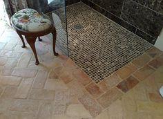 płytki z cegły w łazience