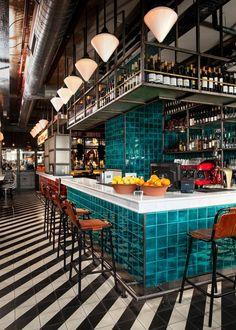 ... Wohnzimmer, Einrichtung, Restaurantideen, Restaurant Inneneinrichtung,  Italienisches Restaurant Dekor, Italienische Fliesen, Balkon, Bäckerei  Design, ...