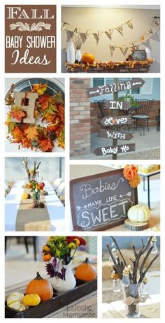 FALL BABY SHOWER THEME- Adorable autumn inspired Fall in Love with baby themed…