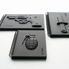 Take your pick. Armed notebooks.