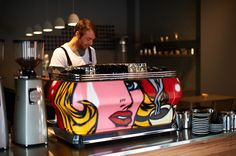 La Marzocco with custom art at First Pour Melbourne