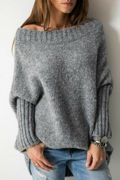 Knitting Patterns Sweter Similar Image Off-Shoulder Sweater Off Shoulder Sweater, Long Sleeve Sweater, Pullover Mode, Jumper Dress, Poncho Sweater, Knit Fashion, Cozy Sweaters, Top Pattern, Knitting Patterns Free