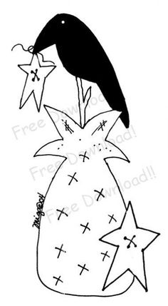 Free Primitive Crow Pattern | Free Goods - Free Patterns - Sheeps, Crows and Critters - Free Crow on ...