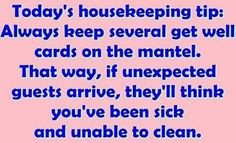 Great idea! Hahaha even more clever than the clever cleaning tips!!!!