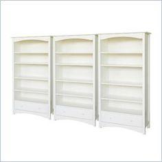 DaVinci Roxanne 5 Shelf Wall Bookcase in White