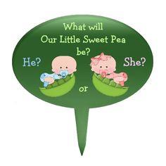 Gender Reveal Cute Cartoon Babies in Pea Pods Oval Cake Picks Bee Gender Reveal, Baby Gender Reveal Party, Baby Cartoon, Cute Cartoon, Baby Shower Cakes, Baby Shower Parties, Baby Showers, African American Babies, American Baby
