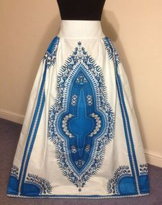 African Printed New Dashiki Maxi Skirt High Waist Maxi Women Clothing Made in UK